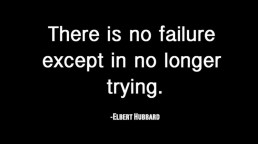 Failure is not trying